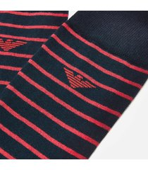 emporio armani men's 3 pack stripe and spot socks - multi