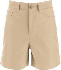 nanushka vegan leather shorts