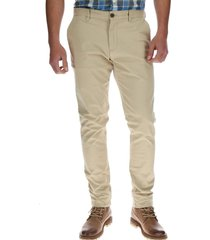 pantalon hombre skinny stretch chino beige cat