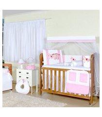 quarto sem cama babá carroagem encantanda rosa