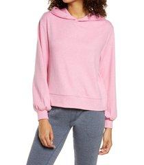alternative blair interlock hoodie, size x-small in heather dogwood pink at nordstrom
