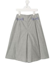 familiar bow-tie detail short - grey