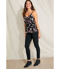 maurices womens pull on black bengaline stretch skinny ankle pants