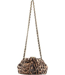 animalier pouch with shoulder strap
