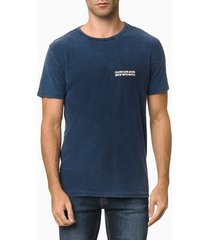 camiseta mc ckj masc calvin espelhado - azul médio - pp