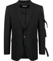 dsquared2 multi-strap tailored blazer - black