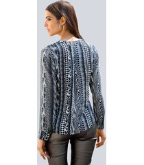 blouse alba moda grijs::kaki
