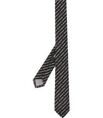 dsquared2 embroidered logo tie - black