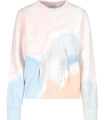 front slit crew-neck sweater