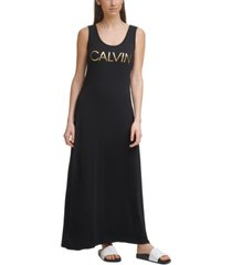 calvin klein sleeveless logo dress