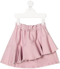 andorine destroyed draped skirt - pink