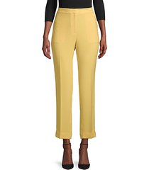 clinton finesse crepe cuffed pants