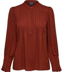 blouse livia bruin
