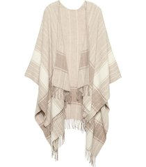 pañuelo plaid poncho gris banana republic