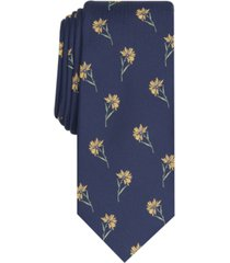 bar iii men's field of daisies skinny tie, created for macy's