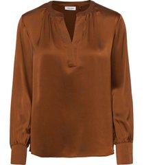 blouse long-sleeve blus långärmad orange gerry weber