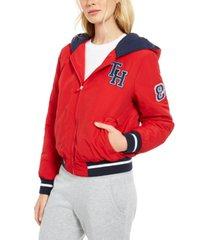tommy hilfiger sport varsity hoodie jacket