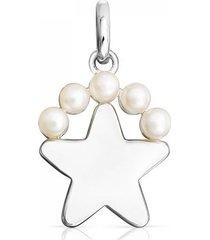 dije real sisy estrella de plata y perlas
