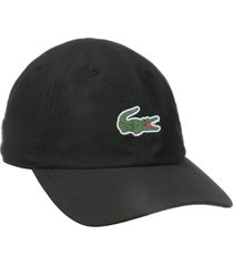 lacoste men's sports polyester cap hat classic small crog rubber logo