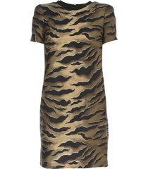 dsquared2 dress silk twill zebra printing