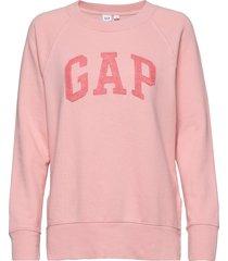 gap lurex emb tunic sweat-shirt tröja rosa gap