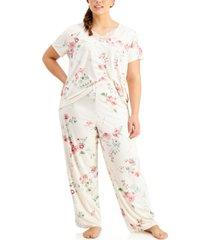flora by flora nikrooz women's plus size patricia pajama set