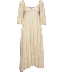 imane midi dress knälång klänning creme faithfull the brand