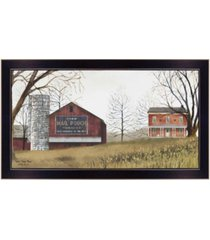 "trendy decor 4u mail pouch barn by billy jacobs, printed wall art, ready to hang, black frame, 30"" x 16"""