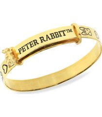 beatrix potter sterling silver peter rabbit expander bangle bracelet