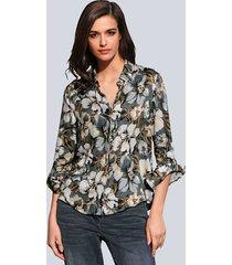 blouse alba moda grijs::taupe