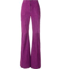 eva chamois flared trousers - purple