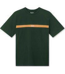 foret go t-shirt f356 dkgreen/camel