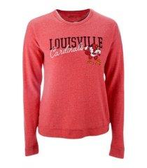 retro brand louisville cardinals women's haachi crew sweatshirt