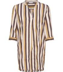 blouse w. v-neck tunika multi/mönstrad coster copenhagen