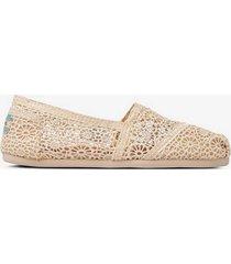 sneakers / espadrillos classic natural moroccan crochet