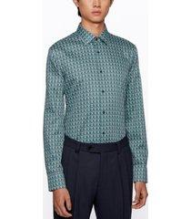 boss men's jango slim-fit cotton shirt