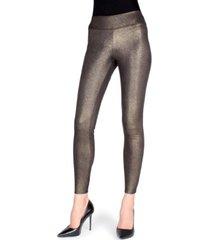 metallic sheen shaping women's leggings