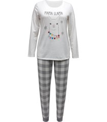 matching women's holiday llama family pajama set, created for macy's