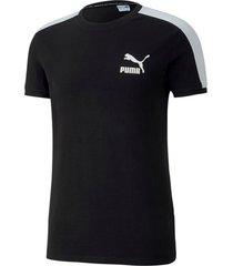 camiseta iconic t7 slim tee puma mujer 581558 01 negro