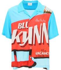 blue sky inn viscose logo shirt