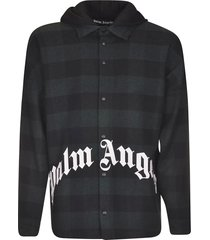 palm angels hoodie logo overshirt