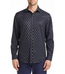 tallia men's slim fit dot print shirt and a free face mask with purchase