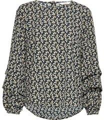nuillaydria blouse blus långärmad multi/mönstrad nümph