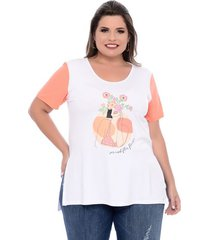 t-shirt florescer plus size