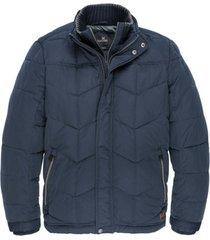 donkerblauwe heren jas vanguard guzzi jacket - vja196310 5360