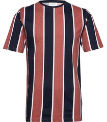 striped box tee s/s t-shirts short-sleeved multi/mönstrad lindbergh