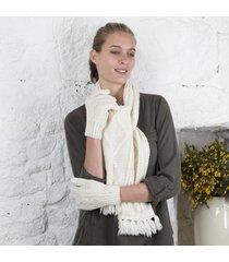 aran unisex gloves cream medium
