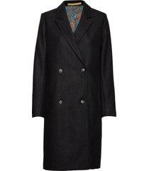 knoxy bold wollen jas lange jas zwart whyred
