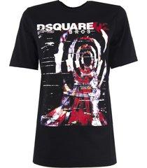 dsquared2 black cotton t-shirt
