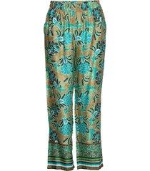 bahiacr pants pantalon met rechte pijpen groen cream